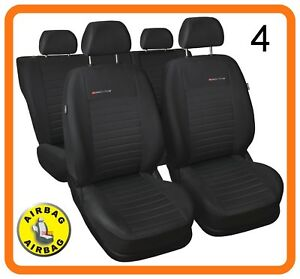 Front car seat covers fit VW Volkswagen Polo charcoal grey P4