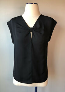 Rebecca-Taylor-Size-XS-Natalie-Silk-Sleeveless-Blouse-Top-Black