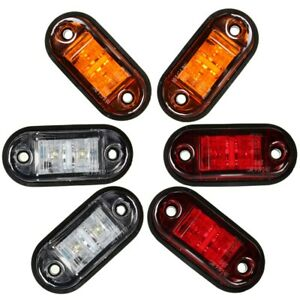 12V/24V LED Clearance Lights Side Marker Lamp SMD Position ...
