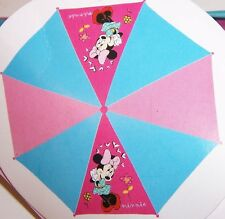 Disney MINNIE MOUSE Glittery Molded Handle UMBRELLA Rain Snow Sun Gear NEW!!