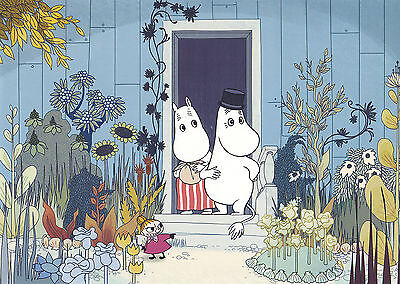 Moomin Picture  Poster 24 x 30cm from Tove Jansson Illustrations Mamma and Pappa