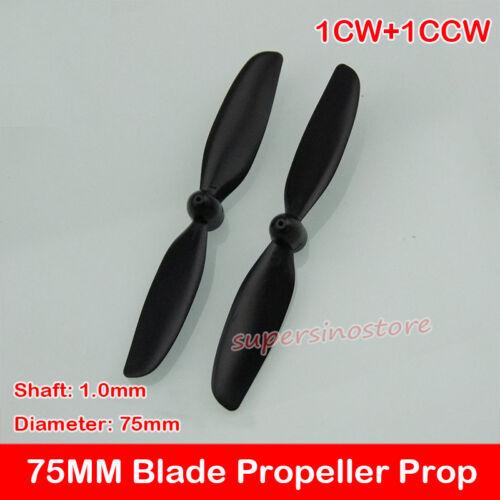 1CW+1CCW 75 mm À faire soi-même RC Quadcoptère Pièces De Rechange Lame Hélice Prop pour Hollow Cup