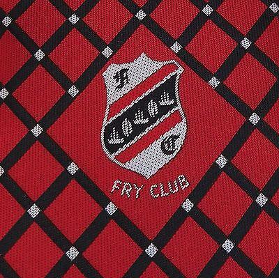 Fry Club FC tie Keynsham Football Club red check tie sports crest