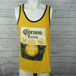Corona-Large-Tank-Top-Mens-Yellow-Graphic-Beer