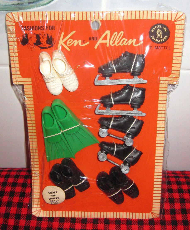 1964 JAPAN VTG.KEN+ALLAN PAKschuhe FOR SPORTSMINT+COMPLETE6 PAIRVERY RARE