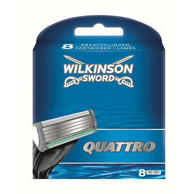 Wilkinson Sword Quattro Blade Refills - 8 Pack