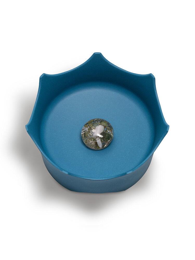 Pet cat bowl Vitajuwel CrownJuwel crystal water ocean blueee bite resistant 21cm