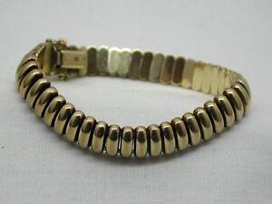 Image is loading Vintage-Heavy-9ct-Gold-Unusual-Link-Bracelet d882d8261111