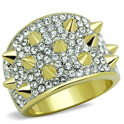 Classy Top Grade Crystal Cocktail Fashion Accented Knob Ring 5 6 7 8 9 10 TK1697