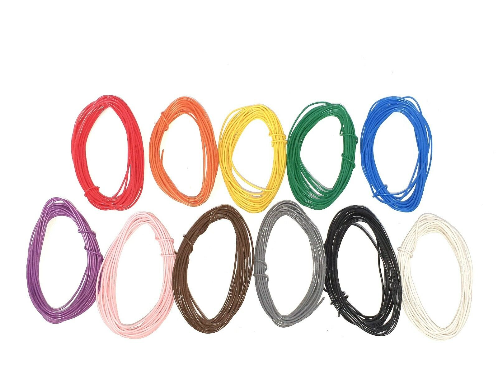 1/0.6mm Single Core Equipment /Hook up Wire 5m Rolls-22AWG -11 Colours