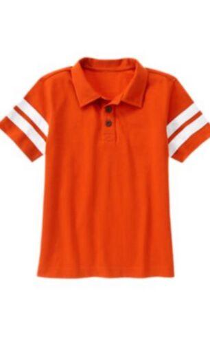 Gymboree Everyday All Star 4 5 6 7 8 10 Shirt Top Striped Orange Blue Polo