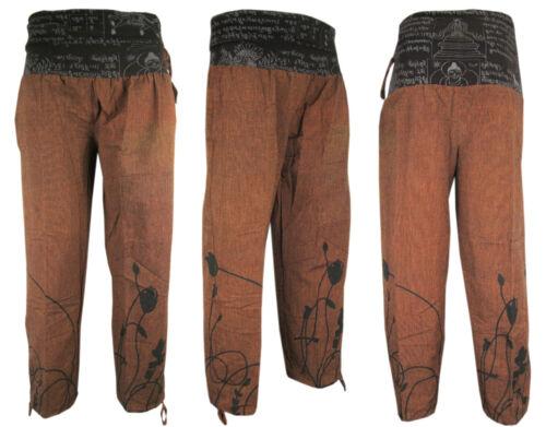 Cotton Hemp Trousers Mantra Light Summer Casual Lounge Fishermen Yoga Pants