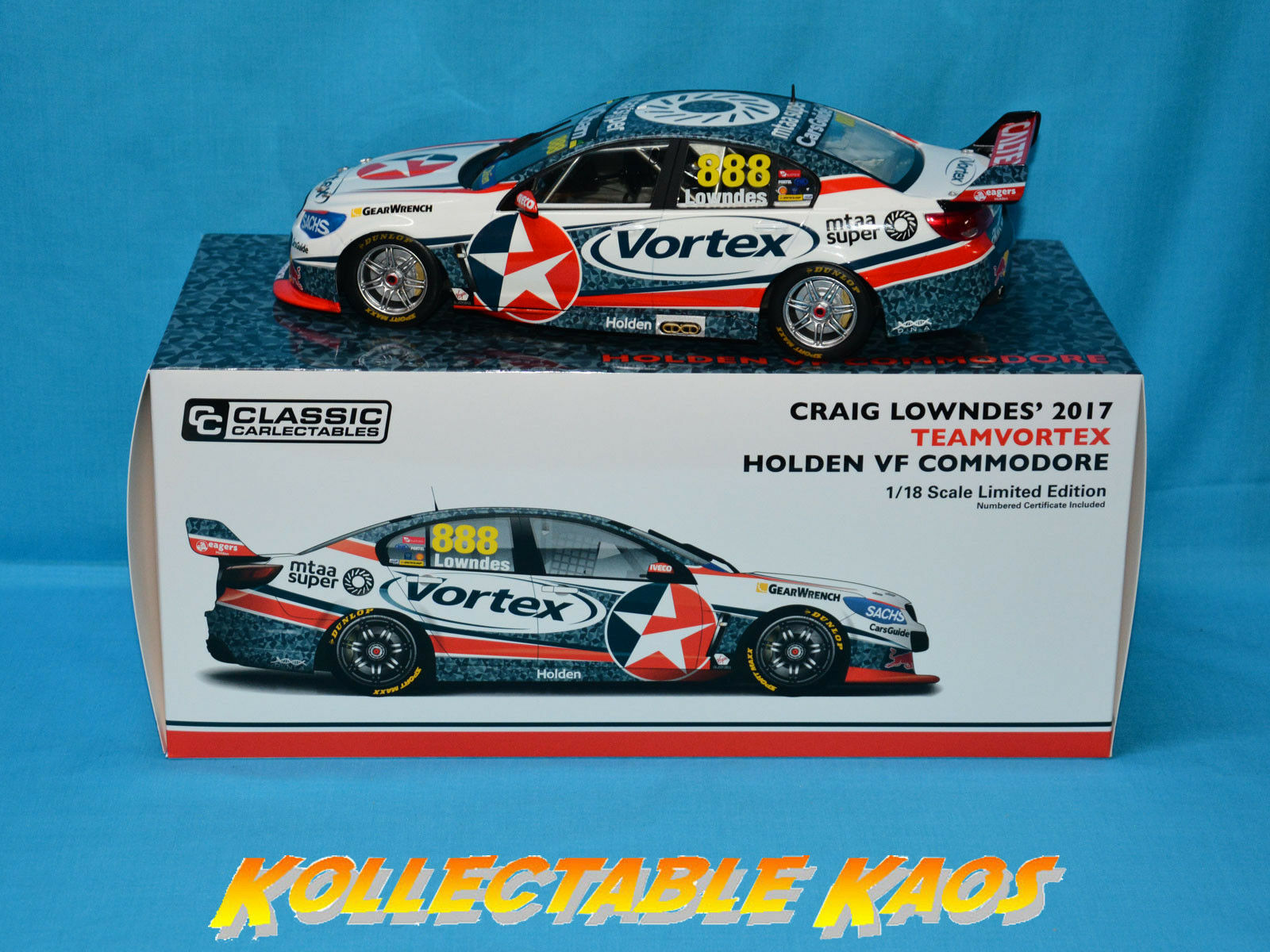 1 18 Classics - 2017 teamvortex-Holden vf Commodore-Craig Lowndes