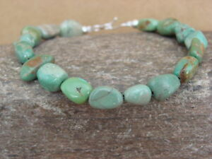 Native-Indian-Hand-Strung-Turquoise-Medium-Nugget-Bracelet-by-Yazzie