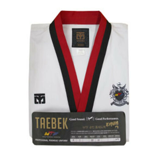 Premium Taekwondo Poomsae Poom Male Uniforms Mooto Taebek TKD Suits Doboks Gifts