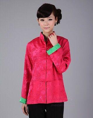 Double Face Chinese Women/'s Silk Jacket Coat Top Cheongsam Size 6 8 10 12 14 16