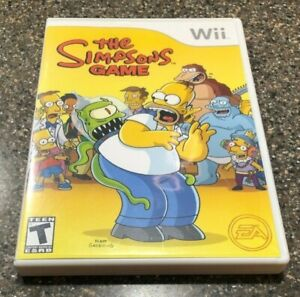 The-Simpsons-Game-Nintendo-Wii-2007-Complete-w-Manual-amp-Poster-Free-Ship