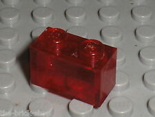 LEGO TrRed brick 1 x 2 ref 3065 / set 8865 5524 7163 857 393 8855 4587 ...