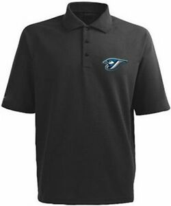Toronto-Blue-Jays-MLB-Mens-Majestic-Dri-Fit-Black-Polo-Shirt-Big-amp-Tall-Sizes