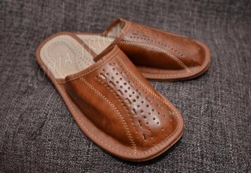 ~ 100/% in pelle ~ Pantofole Uomo