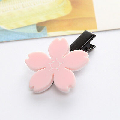 1 Pc Pink Elegant Cute Cherry Blossom Hair Clip Acrylic Hairpin Hair Decoration