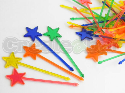 Shooting Star Cocktail Picks Novelty Drink Buffet Cupcake Toppers
