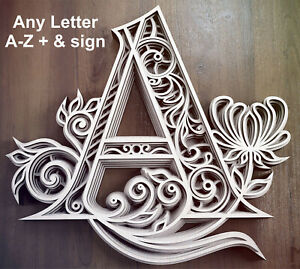 Layered-Letters-Mandala-Style-1-5cm-Thick-Wall-Crafts-Plaque-Unique-Design