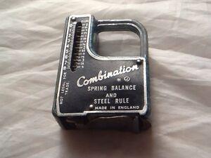 Vintage Nouveauté Printemps Balance & Steel Ruler Outil En Forme De Mini Pistolet Gun-afficher Le Titre D'origine