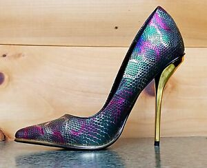 Luichiny-Mind-Blowing-Multi-Green-Snake-Pointy-Toe-Pump-Shoe-4-5-034-High-Heel