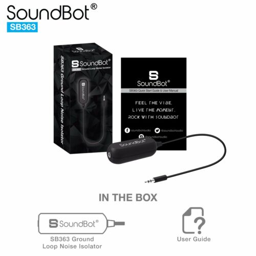 Soundbot SB363 AUX Ground Loop Noise Isolator Filter Buzzing Eliminator Filter