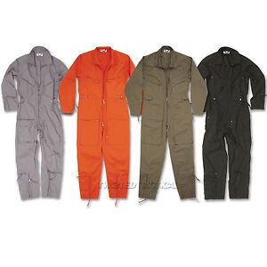 Pilots-Flight-Suit-Aviators-Coverall-Flying-Overralls-Military-Boilersuit-New