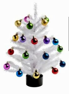 Image Is Loading Multi Colored Ornaments With Tree Xmas Decor 18