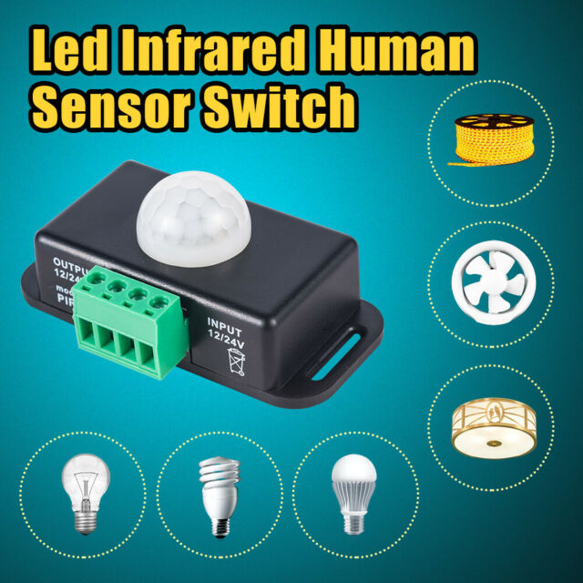 Automatic DC 12V-24V 8A Infrared PIR Motion Sensor Switch For LED Light JT