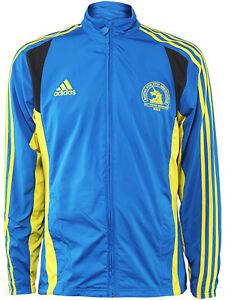NEW-Mens-Adidas-Official-2013-BOSTON-MARATHON-Jacket-Blue-Black-Track-Running