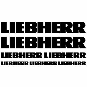 LIEBHERR-XL-aufkleber-sticker-bagger-excavator-7-Stucke-Pieces