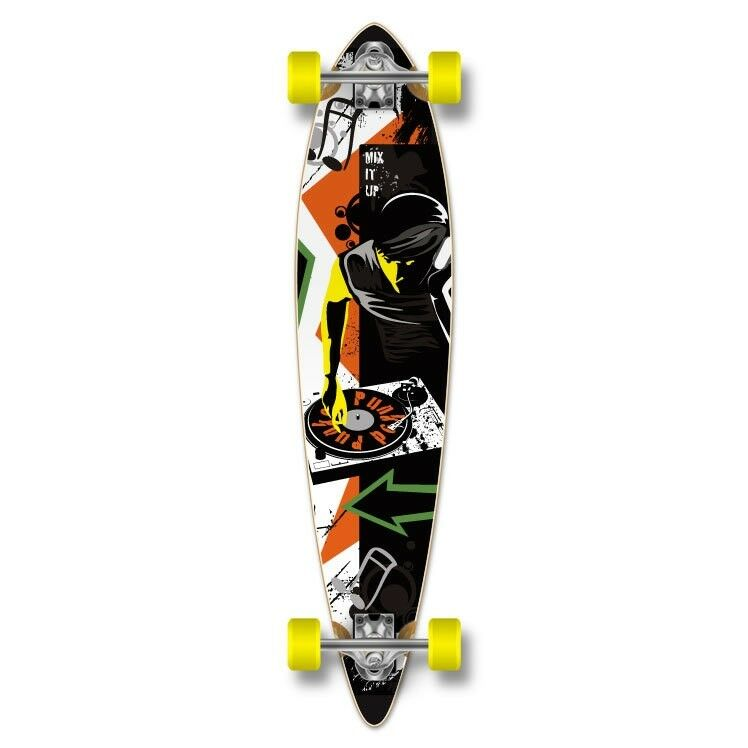 Yocaher Pintail DJ MixItUp Longboard Complete