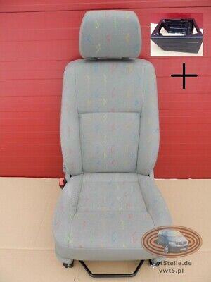 VW T5 GENUINE WATERPROOF SEAT COVER SET double /& Driver seats Light Grey New