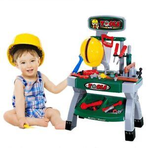 Kids-Pretend-Play-Toy-Tool-Workshop-Bench-Table-Set-DIY-Workbench-Toddler-Boy