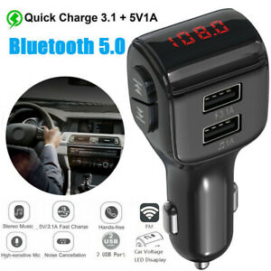 Wireless-Bluetooth-Car-Kit-MP3-Player-FM-Transmitter-Radio-Adapter-USB-Charger