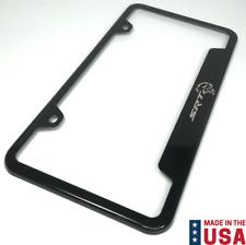 Dodge Charger License Plate Frame Number Tag Engraved Black Powder Coated Zinc