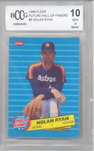1986 Fleer Hall of Famer Nolan Ryan Baseball Card