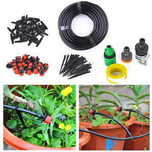 Garden Irrigation Systems 82ft Micro Flow Drip Watering Irrigation Kits DIY Plant Self Garden Hose