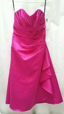 GORGEOUS EDEN MAIDS(BRIDE/MAID COLLECTION) SIZE 2 HOT PINK SASH DRESS. MINT COND