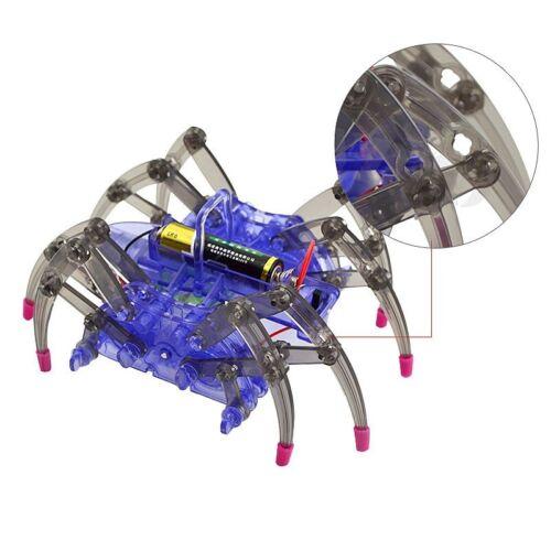 DIY Assemble Intelligent Electric Spider Robot Toy Educational DIY Kit Hot P7M5