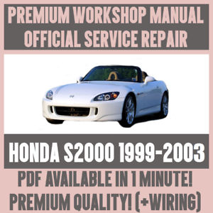 2000 2003 honda s2000 service workshop repair manual