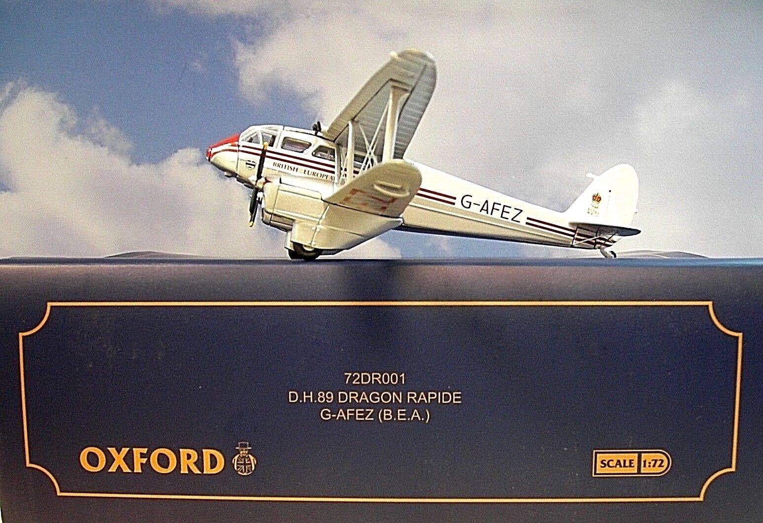 Oxford Wings 1 72  D.H.89 Dragon Rapide BEA G-AFEZ 72DR001 + Herpa Wings Katalog