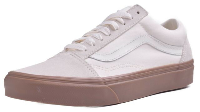 b6b4c9b8edb8 VANS Unisex Old Skool Suede canvas White gum Skate Shoe 7.5 Men US   9  Women for sale online