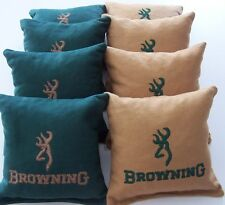 8 Embroidered Browning Cornhole Bags! Eight Quality Bags! Baggo too! Sweet!