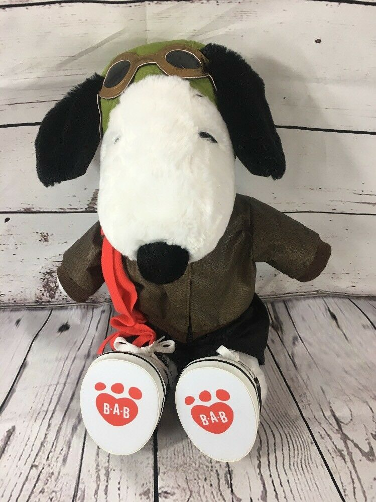 """Build a Bear Snoopy Pilot Suite Sings """"Up Town Funk You Up"""" Bruno Mars EUC"""