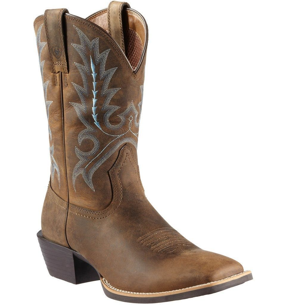 Ariat  Men's Brown bluee Western Cowboy Boot 10011801  best choice